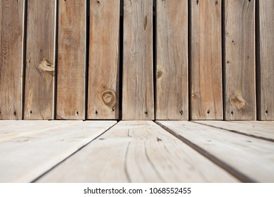 wooden plank background stage low angle view