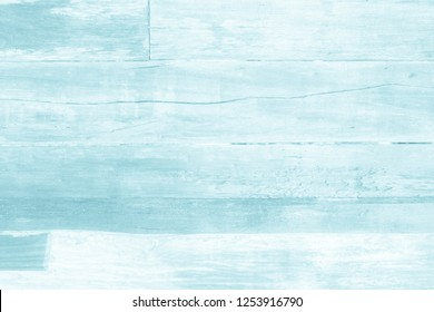 Wooden plank blue wood all antique cracked furniture weathered white vintage wallpaper texture background.