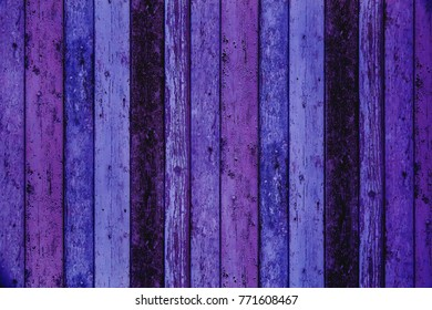 wooden planking background in colors of the year 2018, ultra violet pantone