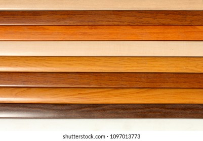 Wooden planks of different colors as the background image.Color swatch.