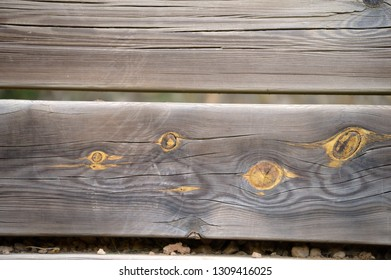 Wooden planks in the field