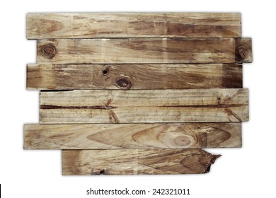 Wooden planks on plain background