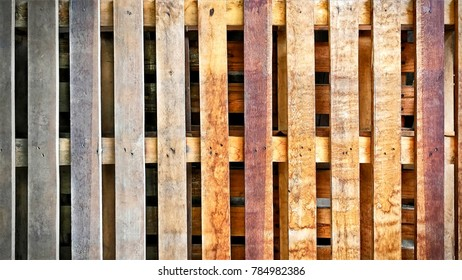 Wooden Planks Texture Background of Cargo Pallet