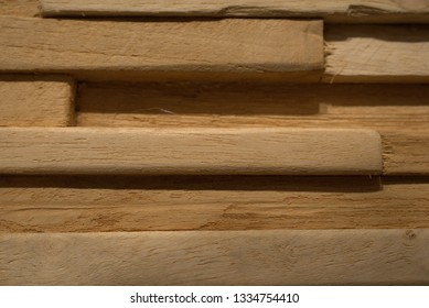 Wooden plate on the wall