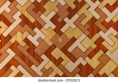 Wooden puzzle in form of parquet