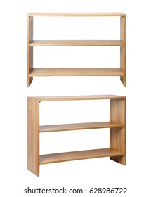 Wooden Rack front and side on white background