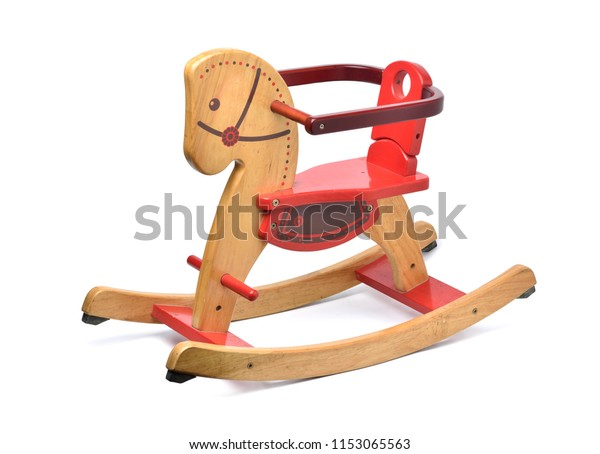 Wooden Rocking Horse Color Paint Isolated Stock Photo Edit Now