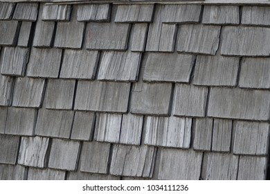 Wooden roof shingles texture.