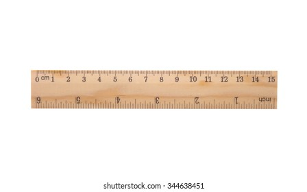 wooden ruler including clipping path
