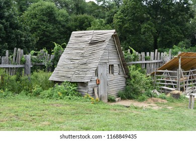 Wooden rustic chicken coop in Plymouth.