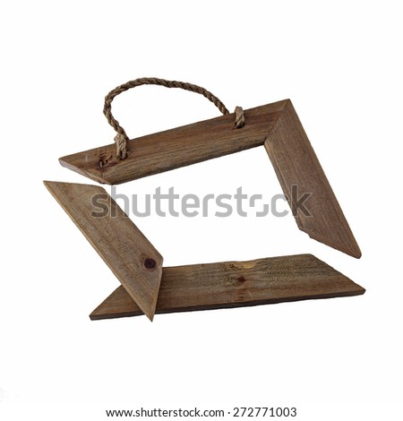Wooden Rustic Picture Frame Broken Isolated Stock Photo (Edit Now ...