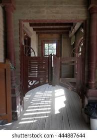 Wooden Saloon swing doors in Fort Bravo Film Set, Tabernas Desert, Almeria, Spain