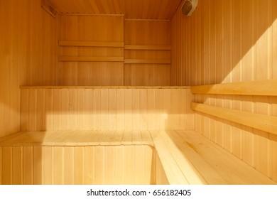 Wooden sauna
