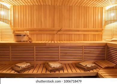 Wooden Sauna, wet area, steam, recreation zone