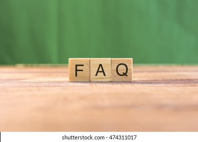 Wooden scrabble letters word FAQ