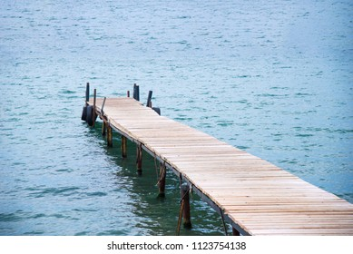 Wooden sea jetty and sea as background. Seascape