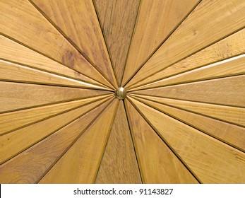 Wooden segments background taken closeup.