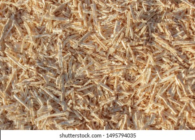 Wooden shavings and sawdust texture background
