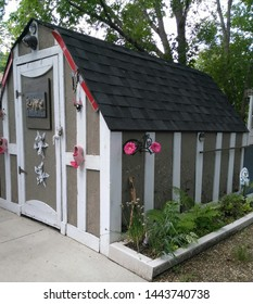 Wooden shed with swiss charm