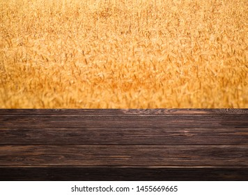 wooden shelf store with nature background