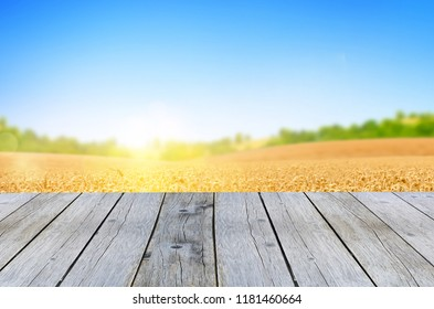 wooden shelf store with yellow field background