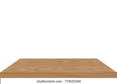 wooden shelves isolated on a white background : can be used for montage (not 3d rendering)