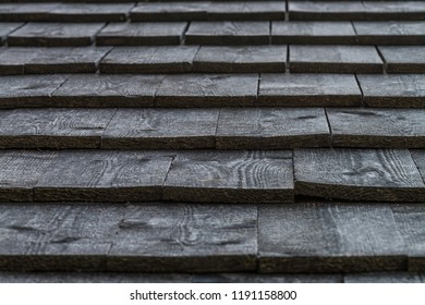 wooden shingles on a roof