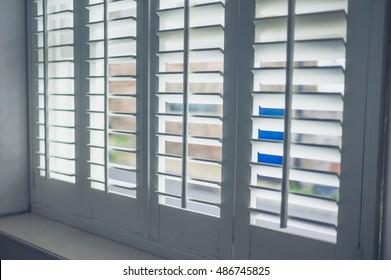 Interior Wooden Shutters Images, Stock Photos & Vectors   Shutterstock