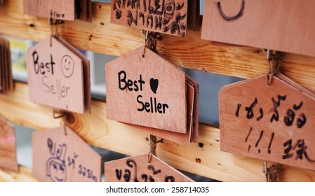 Wooden sign shop selling books greeting stock photo edit now wooden sign shop selling books greeting customers in the restaurant opening m4hsunfo