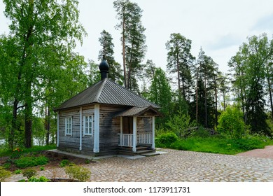 Wooden skete on the Valaam island, Karelia in Russia