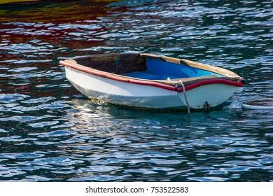 Wooden Skiff in harbor