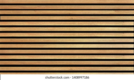 Wooden slats. Natural wood lath line arrange pattern texture background
