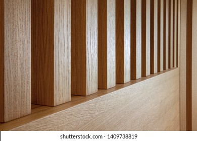 wooden slats in perspective, copy space