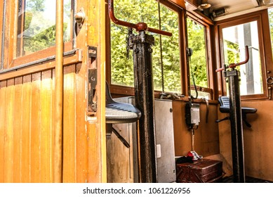 The wooden small train of La Rhune (France, La Rhune)