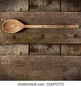 wooden spoon on desk