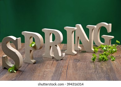 The wooden spring real letters