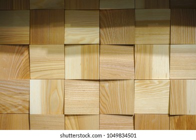 Wooden squares texture and background