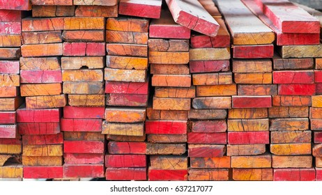 wooden stacked, Raw material for construction, Industrial