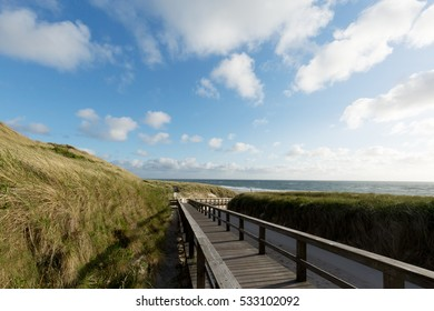 Wooden Staircase to access Sylt Beach/ Germany