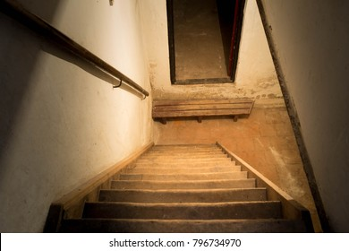Wooden Stairs To The Basement