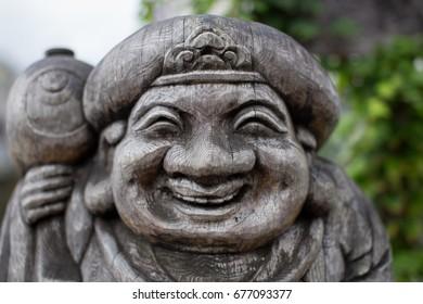 Wooden statue near Takayama in Japan