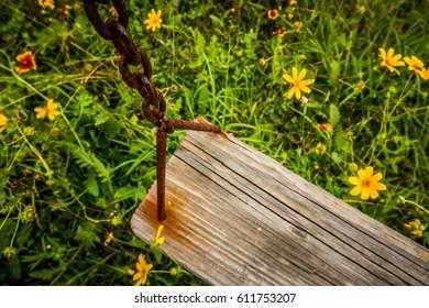 Jadipitys Old Wooden Swing Set On Shutterstock