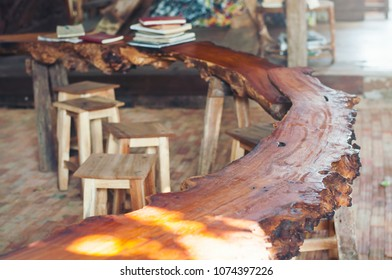 wooden table Have a chair Have a book