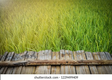 wooden table top with the Field