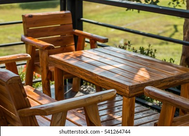 wood furniture images, stock photos \u0026 vectors shutterstockwooden tables and chairs for relaxing