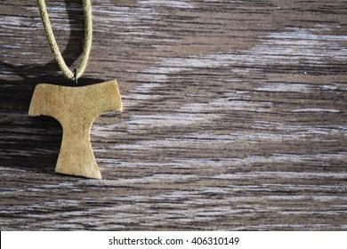 wooden Tau pendant