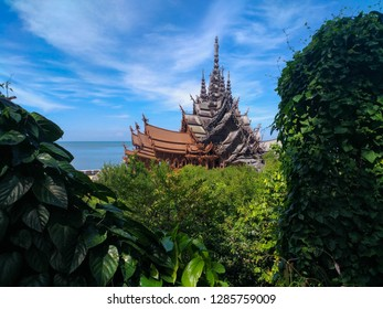 wooden temple thailand