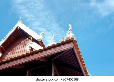 Wooden temple in Thailand