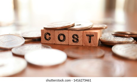 Wooden Text Block of Cost