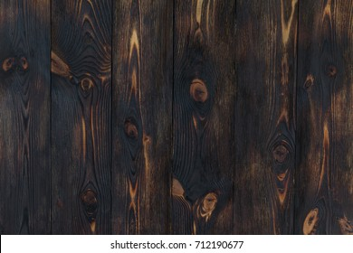 Wooden texture background. burnt wood
